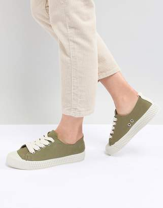 Pull&Bear baseball trainer in green