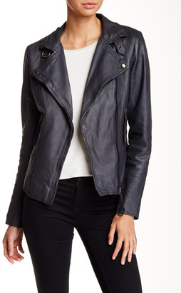 Muubaa Genuine Leather Biker Jacket $475 thestylecure.com