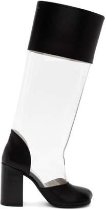 MM6 MAISON MARGIELA Transparent PVC Tall Boots
