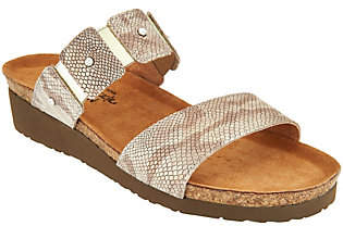 Naot Footwear Leather Double Strap Slide Sandals -Ashley