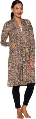 Cuddl Duds Comfortwear French Terry Maxi Cardi Wrap
