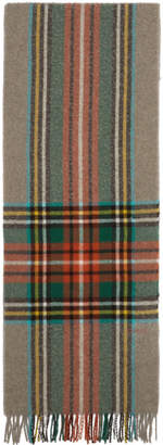 Gucci Multicolor Check Wool Scarf