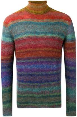 Missoni striped roll neck sweater