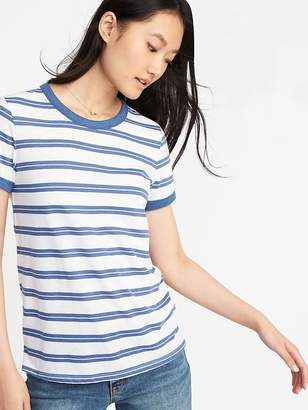 Old Navy Slim-Fit Striped Ringer Tee for Women