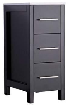 """MTD Vanities Argentina 12"""" Bathroom Storage Linen Cabinet, Espresso"""