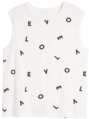 Current/Elliott The Muscle Tee Love Tank