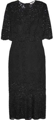 Veronica Beard Linden Lace Midi Dress - Black