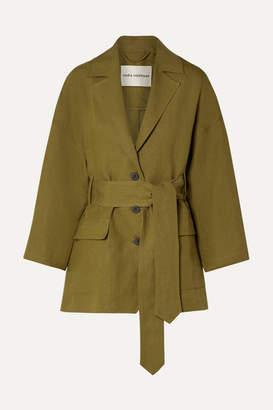 Mara Hoffman Net Sustain Atticus Tencel And Linen-blend Jacket - Army green