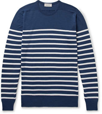 John Smedley Striped Virgin Wool Sweater