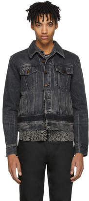 Saint Laurent Black Denim Shadow Jacket