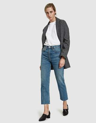 RE/DONE Originals High Rise Stove Pipe Jean in Medium Vain