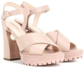 Nicholas Kirkwood Annabel Pearl leather sandals