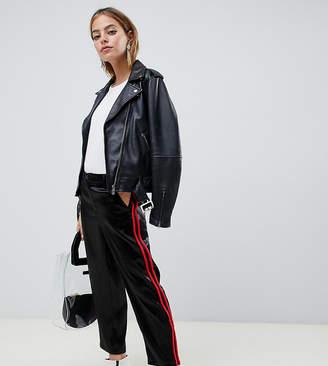 Asos DESIGN Petite cigarette pants in luxe satin