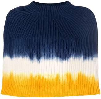 Sonia Rykiel tie-dye poncho scarf