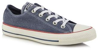 Converse Navy Canvas 'All Star Ox' Trainers