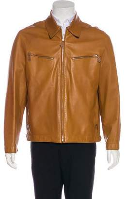 Hermes Lambskin Zip-Up Jacket