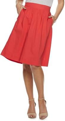 Apt. 9 Women's Poplin Pull-On Midi Skirt