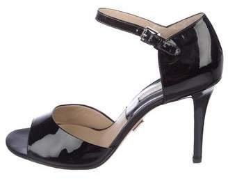 Michael Kors Patent Leather Ankle-Strap Sandals