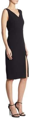 DKNY Women's Slit V-Back Sheath Dress