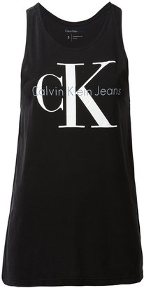 Calvin Klein Jeans iconic logo tank top $39.48 thestylecure.com