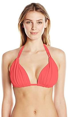 LaBlanca La Blanca Women's Island Goddess Rouched Halter Bikini Swimsuit Top
