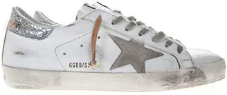 Golden Goose White Leather Superstar Sneakers With Contrasting Inserts