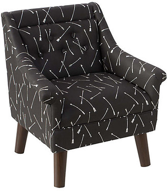 One Kings Lane Bella Kids' Accent Chair - Black Linen