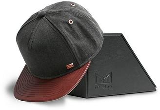 Melin Concrete Denim Leather Brim Cap $120 thestylecure.com