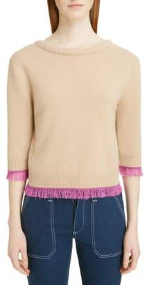 Chloé Fringe Edge Cashmere Sweater