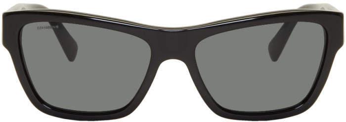 Versace Black Rock Icon Medusa Sunglasses