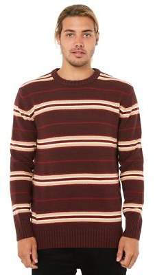 Swell New Men's Oslo Mens Knit Crew Neck Wool Acrylic Red