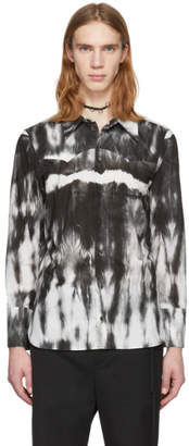 Ann Demeulemeester White and Black Alex Tie-Dye Shirt