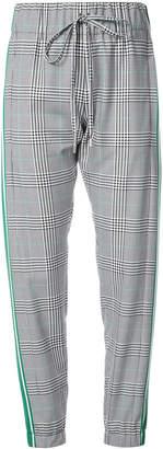 plaid track pants