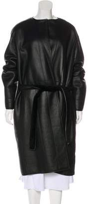 The Row Long Leather Coat