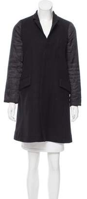 Zucca Standing Collar Knee-Length Coat