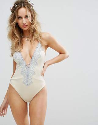 Blue Life Bridal Embroidered Eclipse Swimsuit