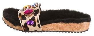 Sophia Webster Embellished Slide Sandals w/ Tags