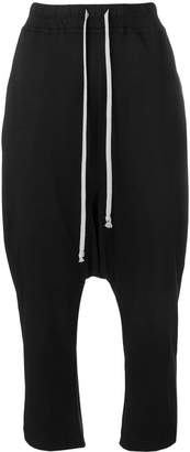 Rick Owens cropped dropped crotch trousers