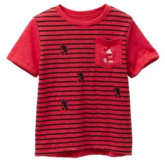Mighty Fine Mickey Classic Stand Stripe Tee (Toddler Boys)