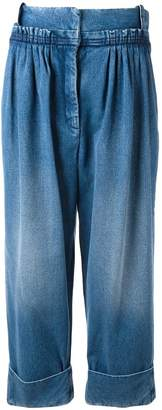J.W.Anderson straight fit pleated denim trousers