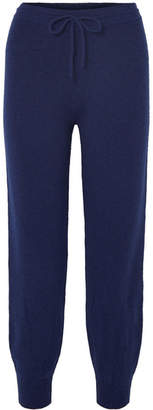 Theory Wool-blend Track Pants - Navy