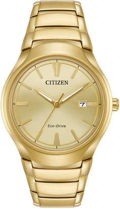 Citizen Men Eco-Drive Dress Gold-Tone Stainless Steel Bracelet Watch 40mm AW1552-54P