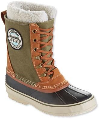 L.L. Bean Men's L.L.Bean Snow Boots with Patch, Canvas Lace-Up