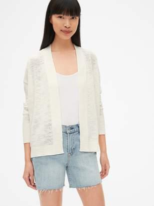 Gap Open-Front Cardigan Sweater in Slub Cotton