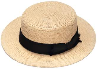 Justine Hats - Classic Boater Straw Hat