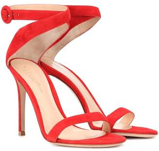 Gianvito Rossi Exclusive to mytheresa.com – Cross strap suede sandals
