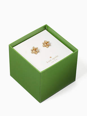 Kate Spade Bourgeois bow boxed pave studs
