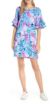 Lilly Pulitzer R) Lula Ruffle Sleeve Shift Dress