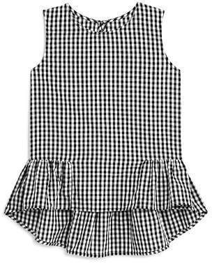 Aqua Girls' Gingham Ruffle-Trim Tank, Big Kid - 100% Exclusive