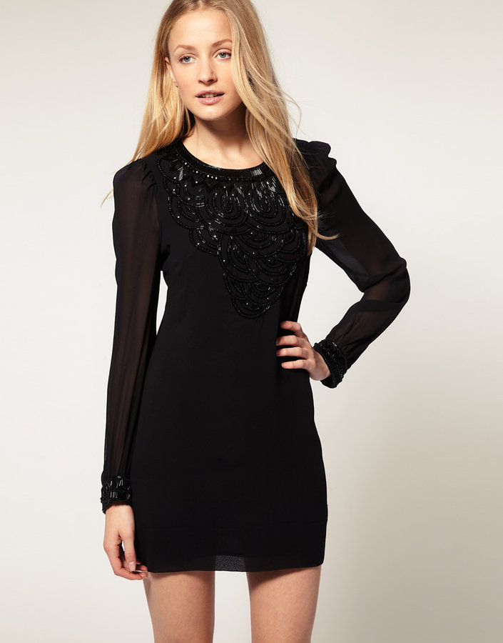 French Connection Rebecca Beads Mini Dress